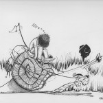 Don & diego on the road- draw - ink -snails -