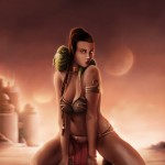 star wars - jabba the hutt - fan art - digital paint