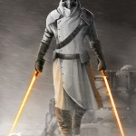 Jedi mercenary - alone - digital paint - star wars -