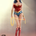 cd fan art - wonder woman - digital paint - comics-