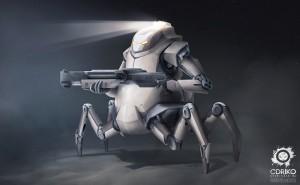Robot - exosquelette - armor suits - metal suit - war armor - paint - illustration - illustrator - concept art