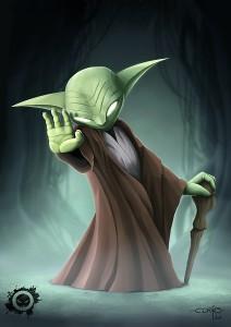 fan art - master yoda - star wars - jedi art