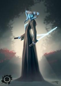 twi'lek jedi - star wars - fan art - illustrator - illustration - photoshop paint