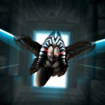 Shaak-ti in attack- jedi - star wars - fan art - illustrator - illustration - photoshop paint