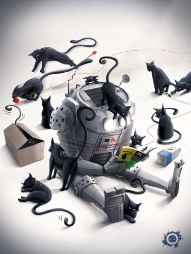 robot - cat - cat's for dummies - les chats pour les nuls